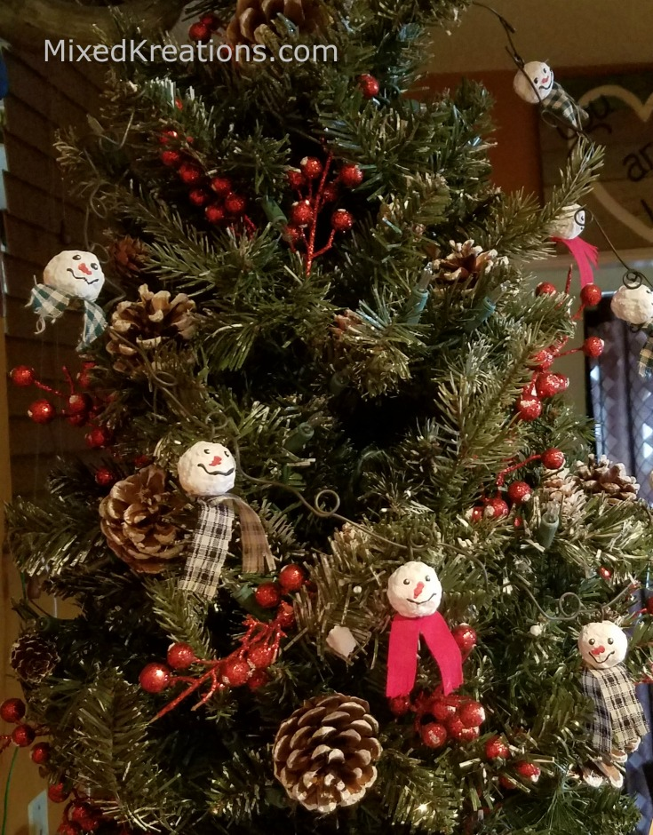 How to Make Snowman Garland on Wire