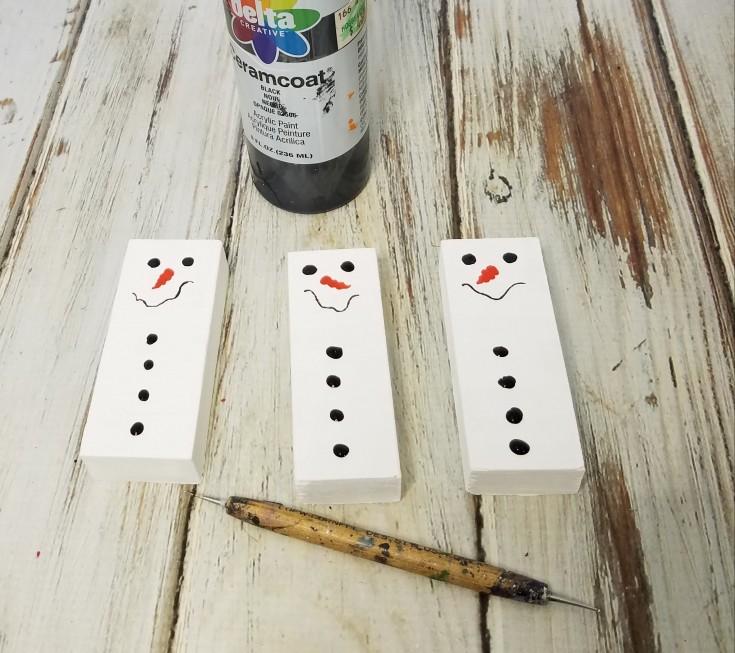 scrap wood snowmen ornaments