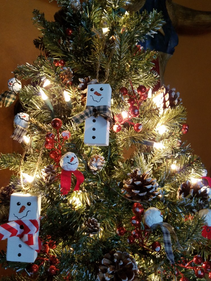 Diy Scrap Wood Snowmen Ornaments