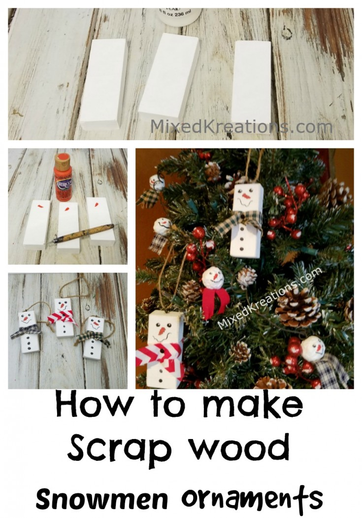 Ornaments | how to make snowmen ornaments | diy holiday decor #SnowmenOrnaments #diy #holidaycrafts MixedKreations.com