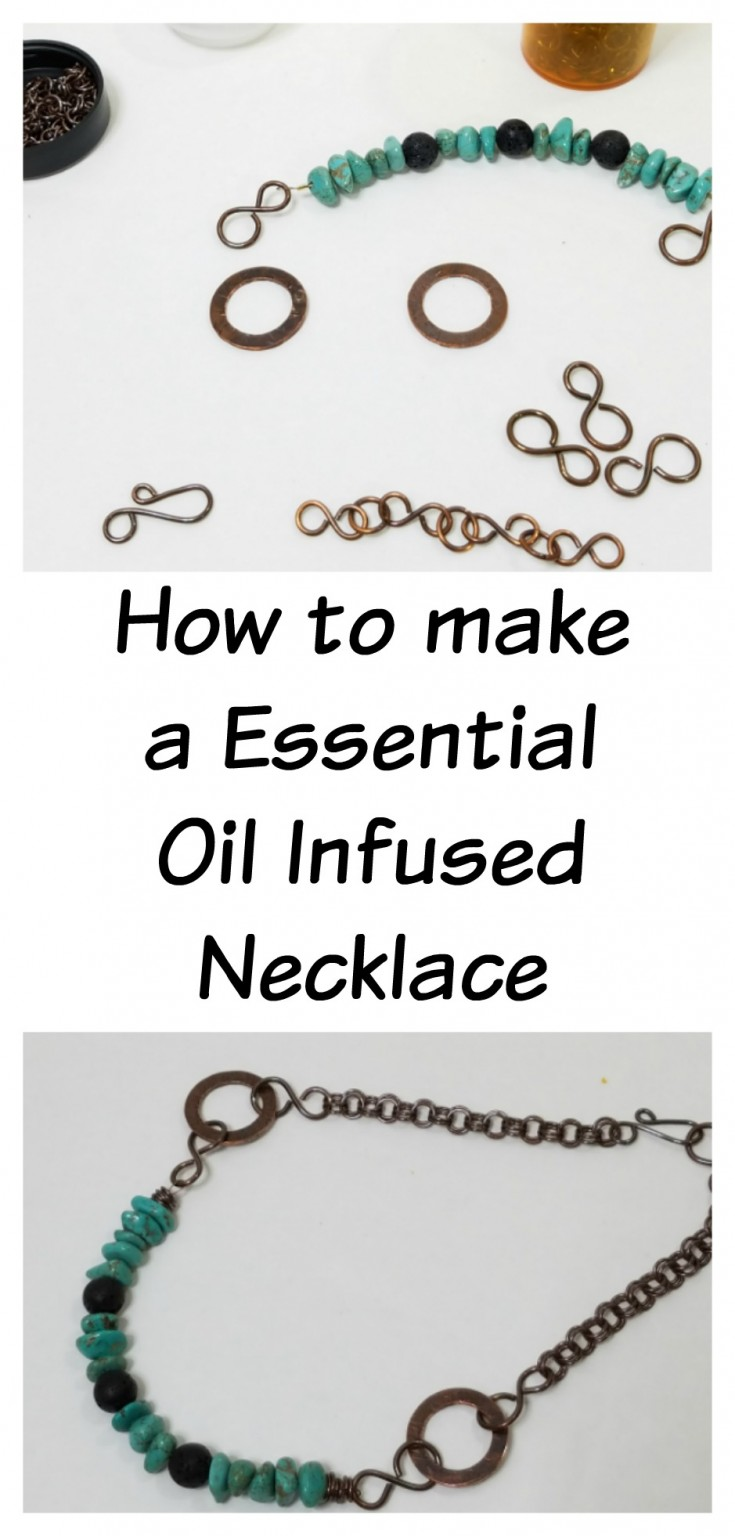 how to make a essential oil infused necklace