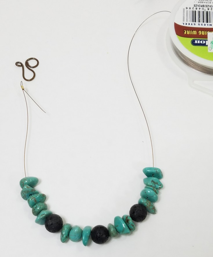 how to make an essential oil infused necklace