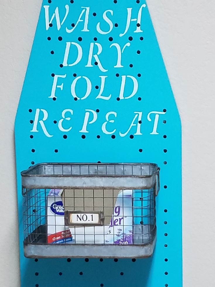 Repurposed Ironing Board Wash Dry Fold Repeat