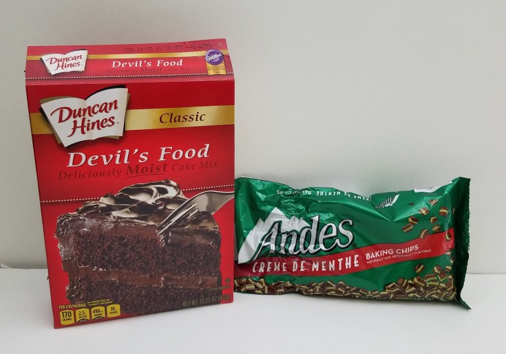 Andes mint chocolate cake cookies