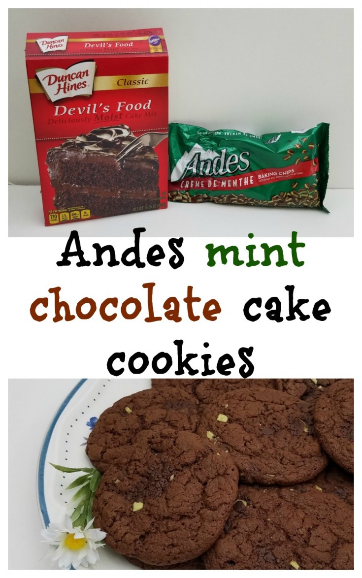 How to make Andes mint chocolate cake cookies / chocolate cake cookies / Andes cookie recipe #CookieRecipe #HomemadeCookies #CakeCookies MixedKreations.com