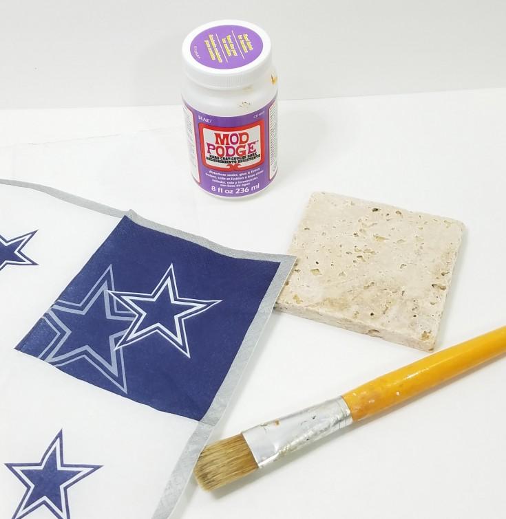 diy Dallas cowboys tile coasters