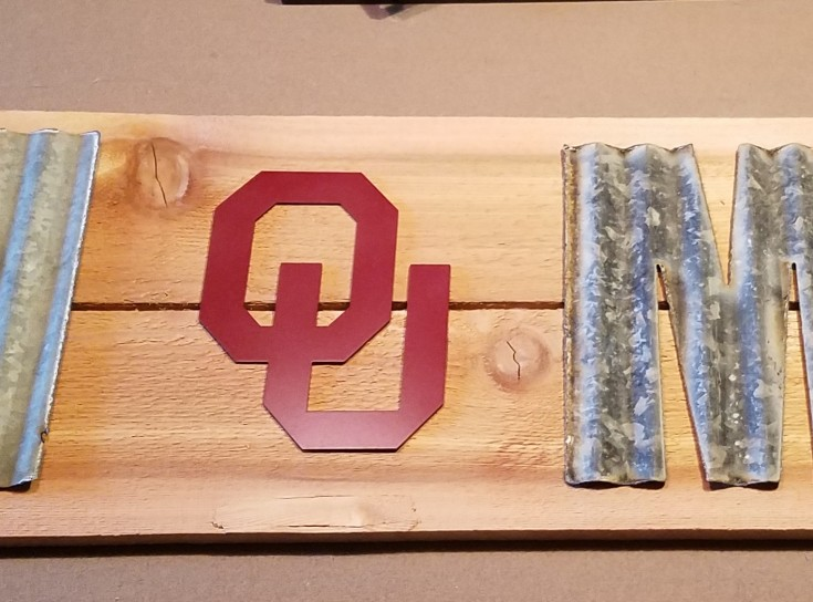 diy OU home sign