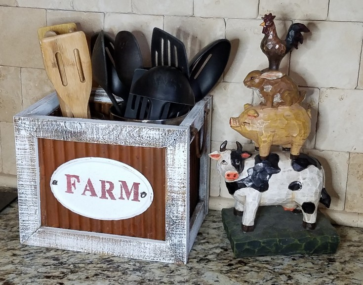 Diy Rustic Farmhouse Style Utensil Holder
