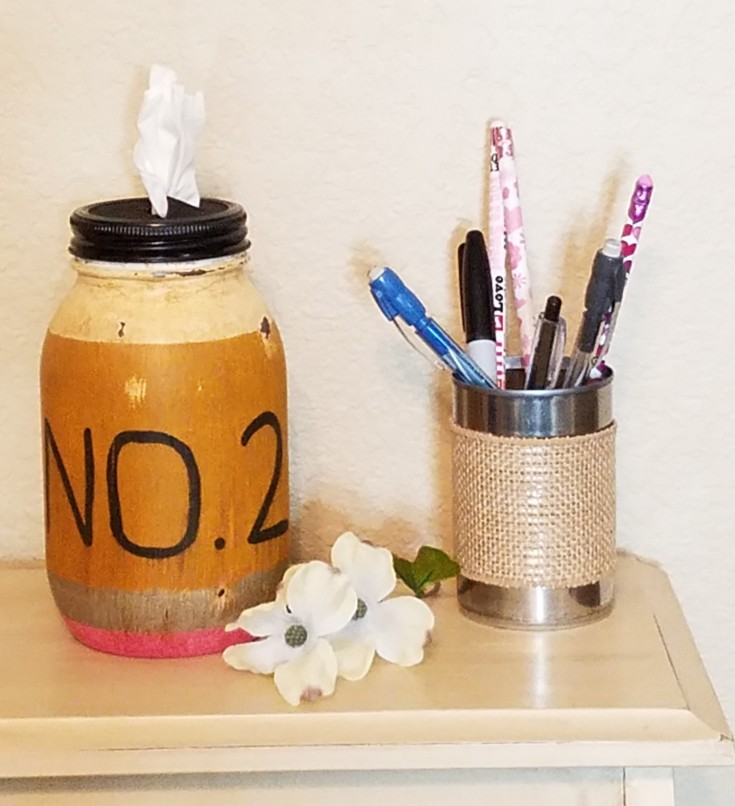 How to Make a Pencil Jar Tissue Holder