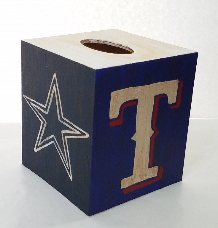 diy Dallas Cowboys Texas Rangers tissue box cover