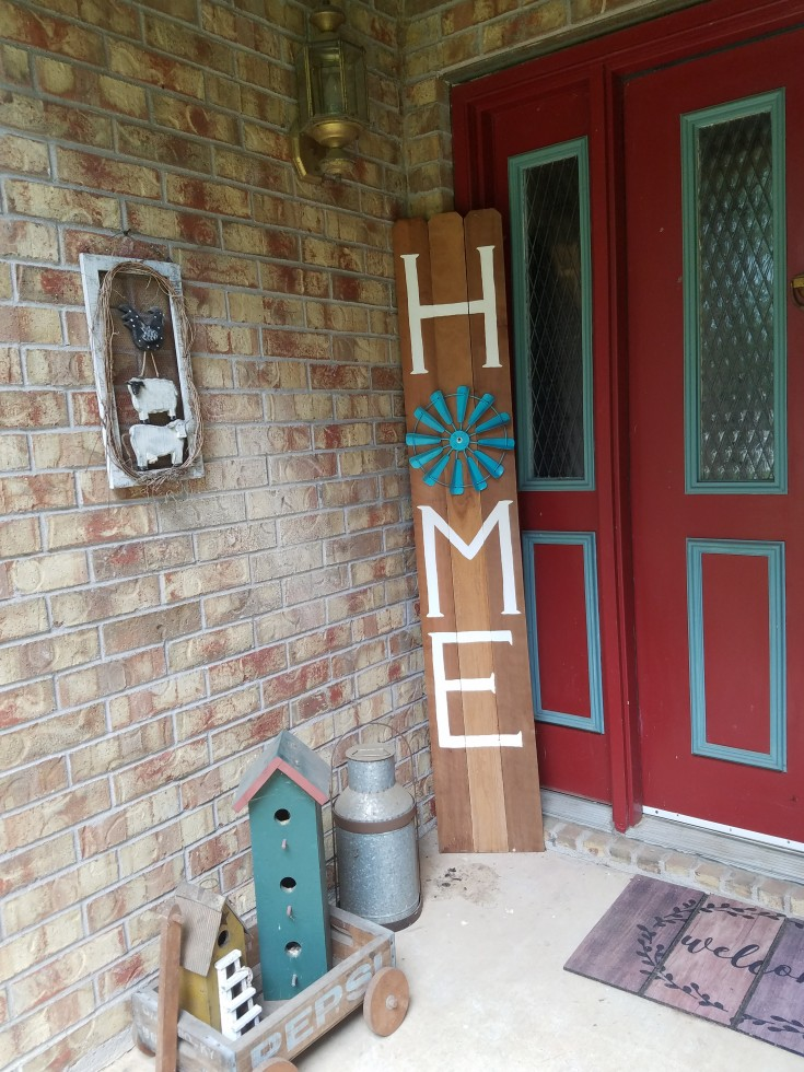 How to make a large porch sign | diy home sign #diy #PorchSign #Home MixedKreations.com