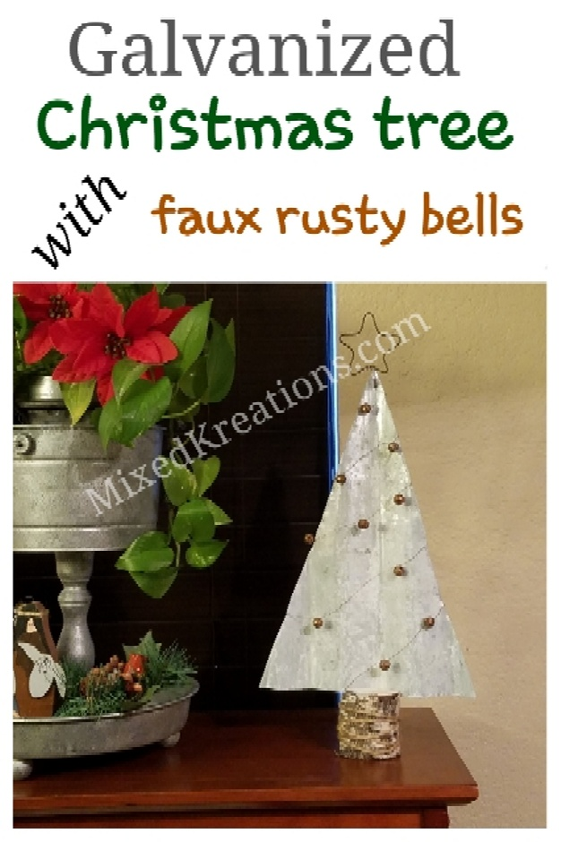 How to make a rustic Christmas tree out of galvanized metal, Diy Rustic Galvanized Metal Christmas Tree Decor, holiday decor, mixedkreations.com