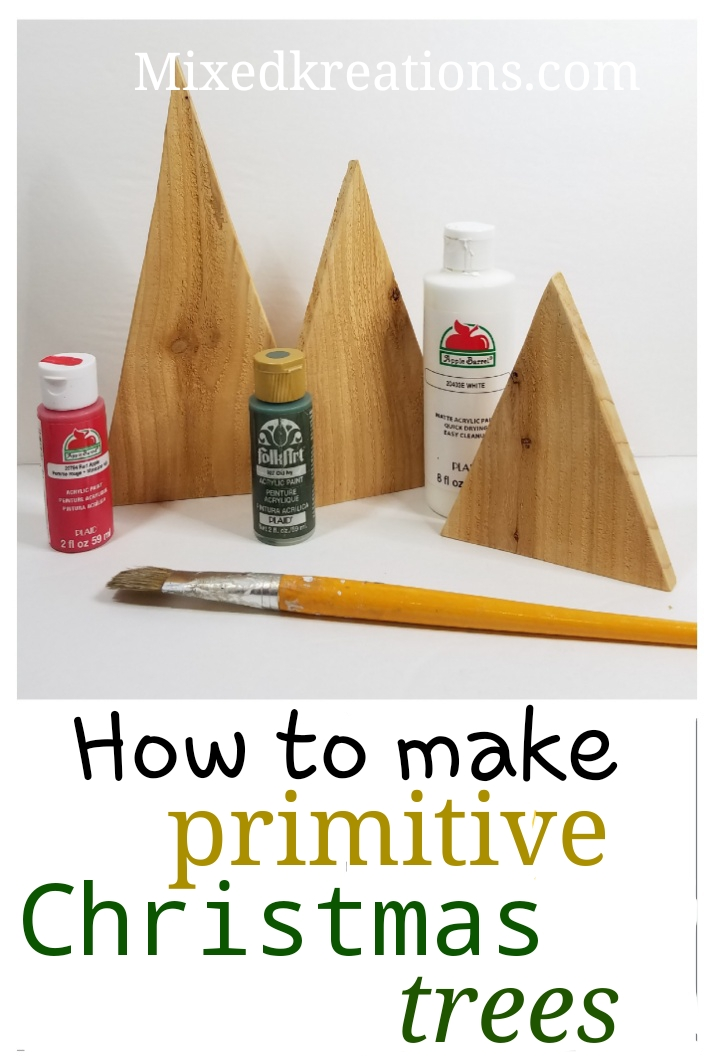 Diy Primitive Christmas Trees Holiday Decor Mixed Kreations