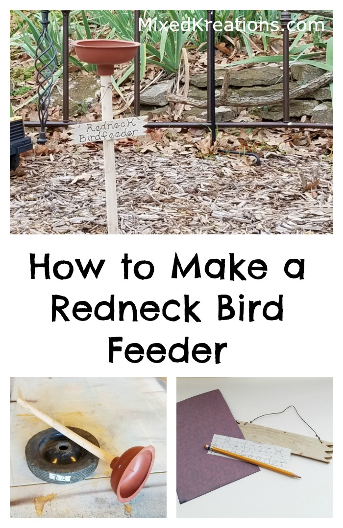 How to Make a Redneck Bird Feeder out of a wheel and a toilet plunger / repurposed / diy redneck birdfeeder