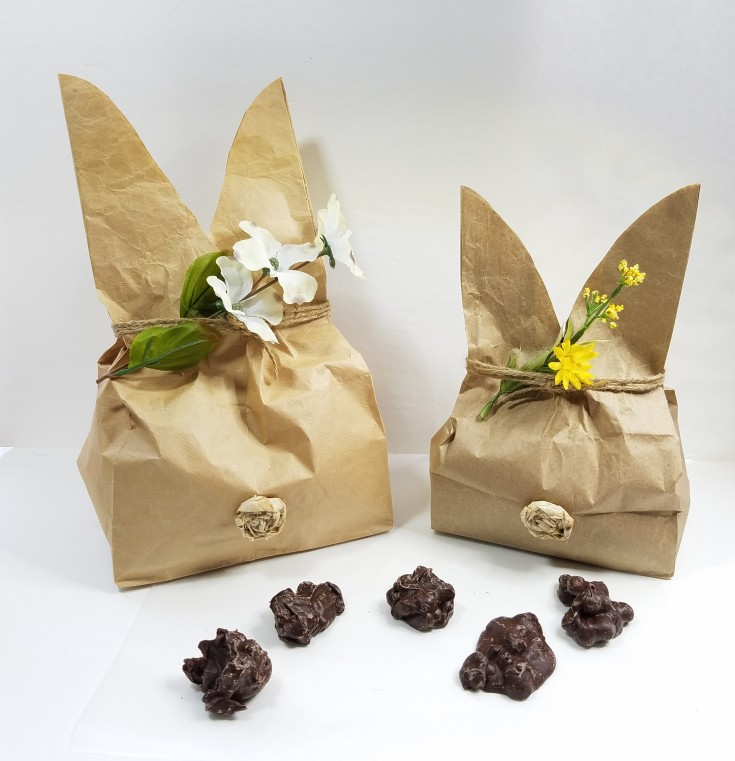 Diy Bunny Treat Bags, How to make bunny treat bags from paper bags