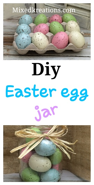 How to make a Easter egg jar out of a glass jar