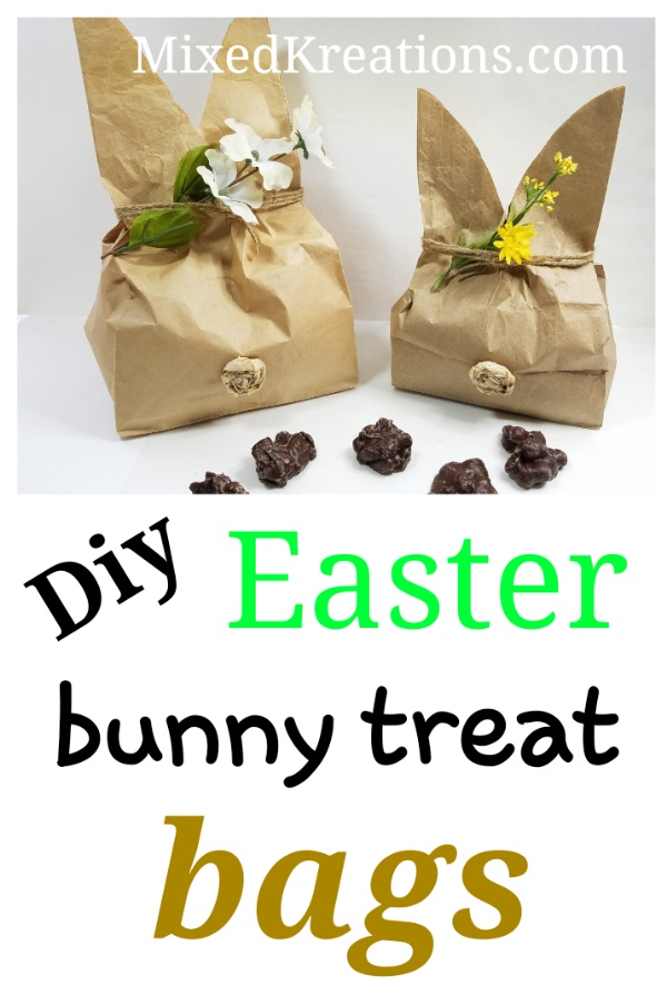 How to make a bunny treat bags, diy bunny treat bags, MixedKreations.com