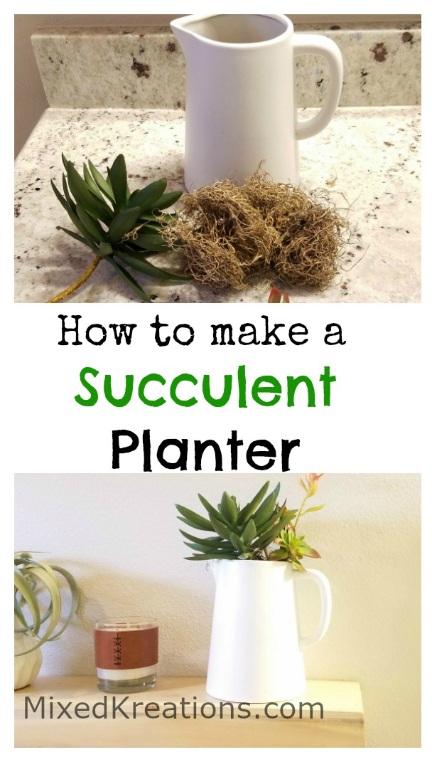 how to make a easy diy faux succulent planter