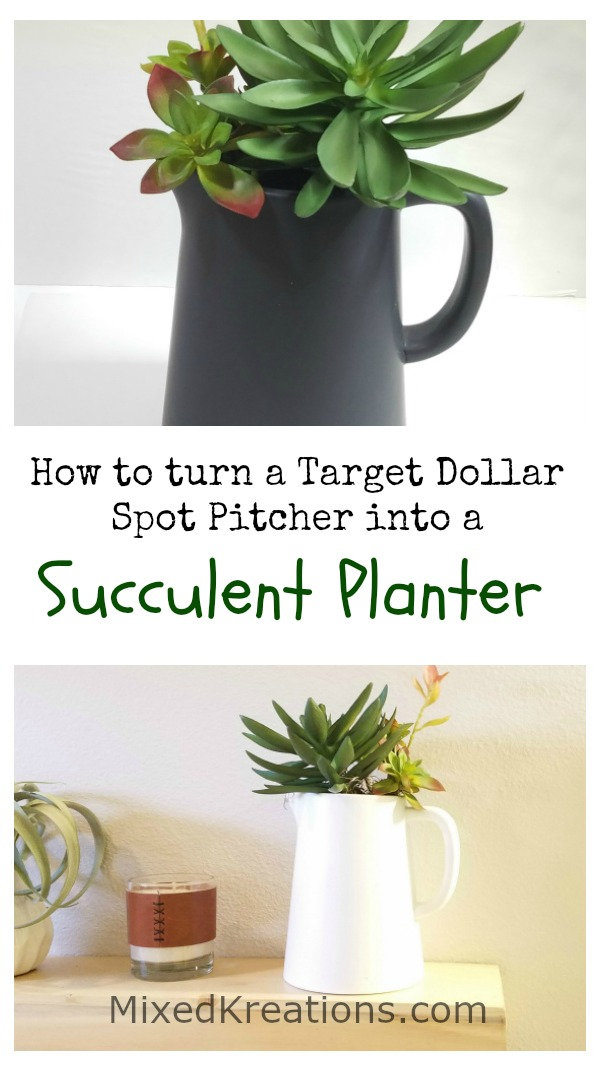 how to turn a ceramic pitcher into a succulent planter