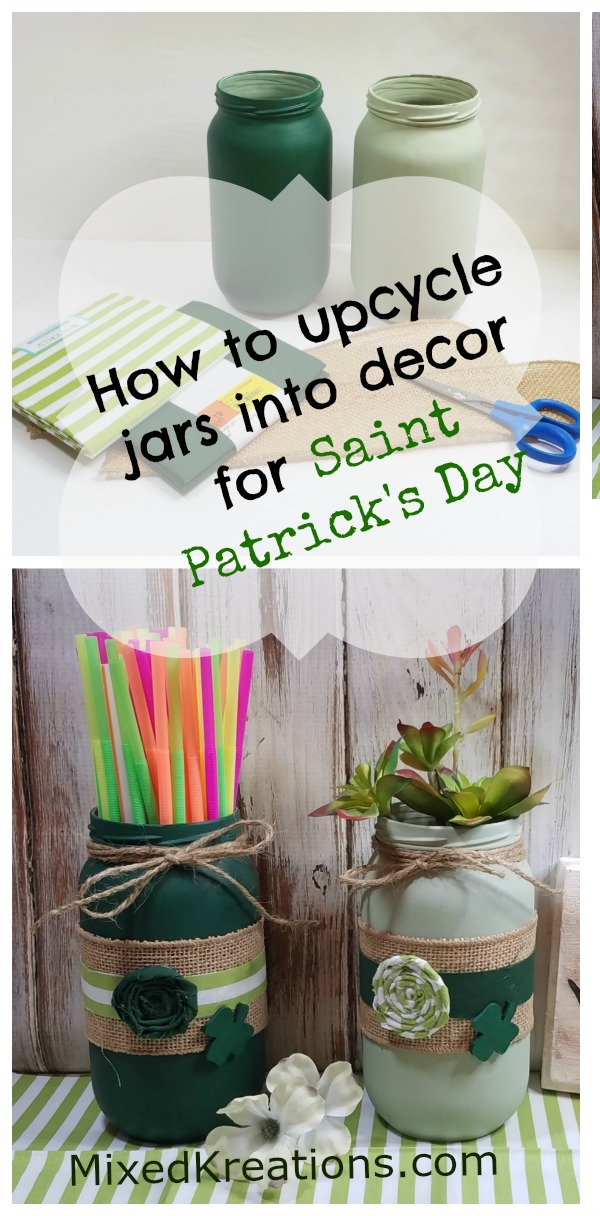 How to upcycle jars into Saint Patricks day decor