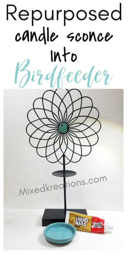 how to make an easy diy candle sconce birdfeeder