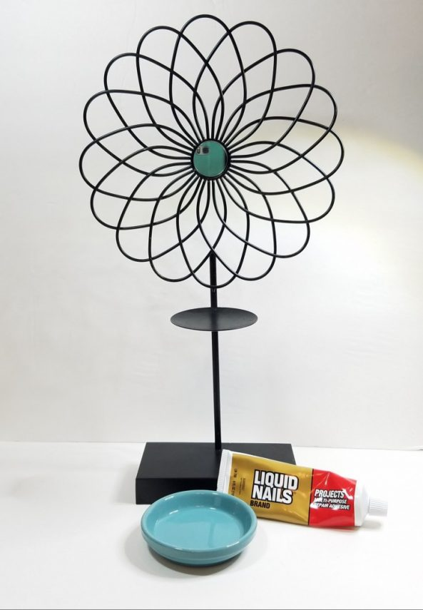 how to make a bird feeder out of a candle sconce