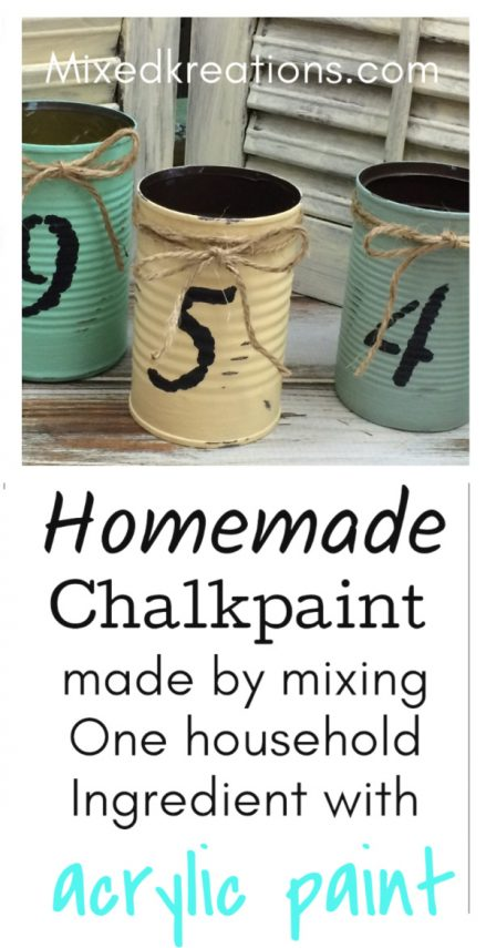 how to make homemade chalk paint out of one household ingredient and acrylic paint