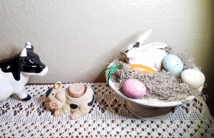 how to make some quick & easy rustic easter decor, diy easter decor