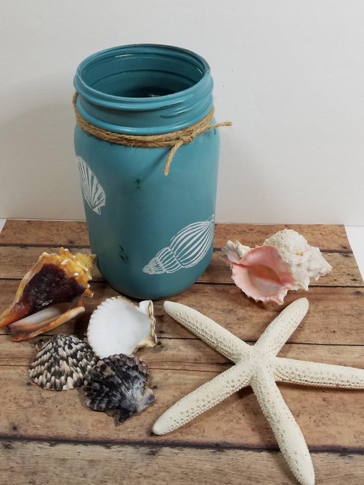 Diy Beachy Décor – Upcycled Jar