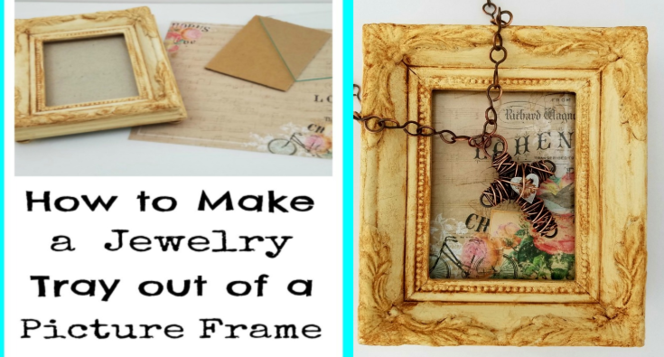 How to make a jewelry tray surprisingly easy upcycles
