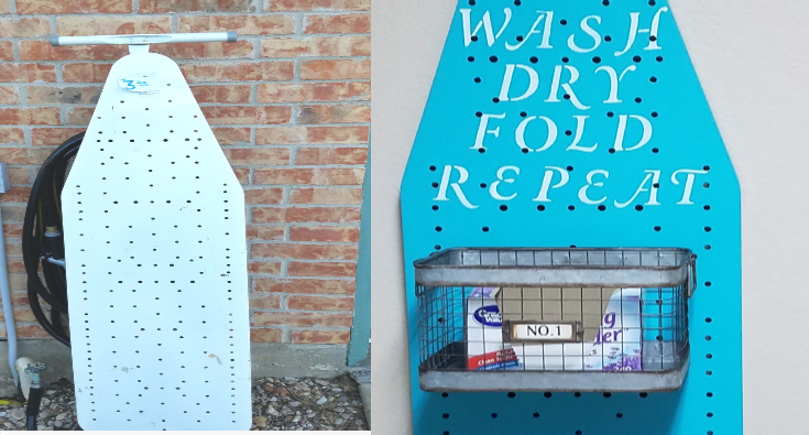 repurposed ironing board surprisingly easy upcycle