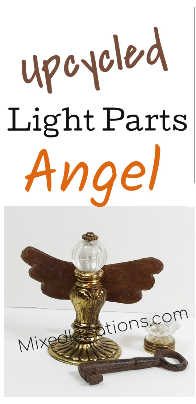 Repurposed light parts angel