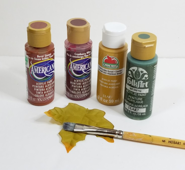 diy fall leaf / how to add color to leaves
