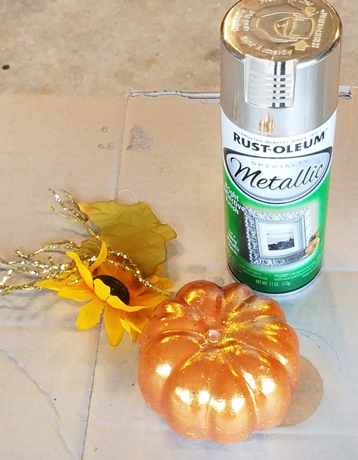Dollar Store Pumpkin Faux Mercury Glass Pumpkin 6