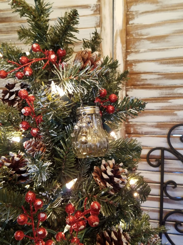 Faux Mercury Glass Salt Shaker Ornament how to