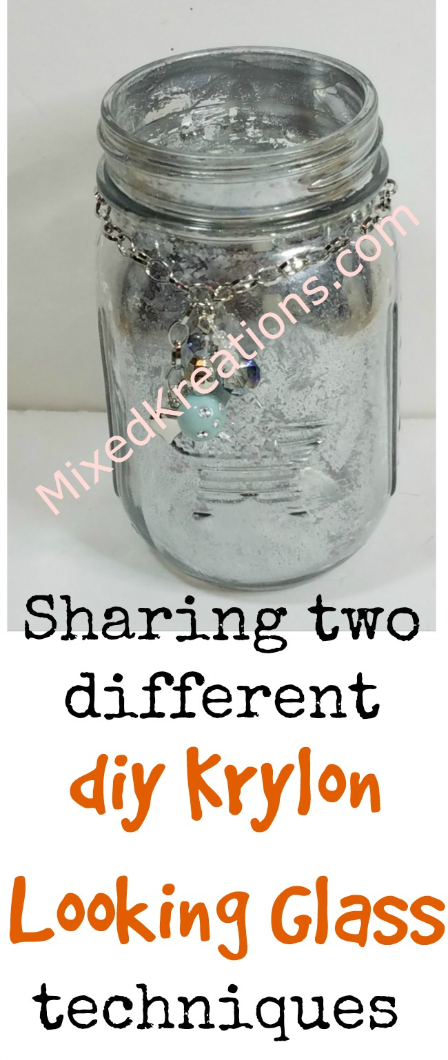 How to make a faux mercury glass jar, diy mercury glass jars, upcycle a glass jar with looking glass spray paint,