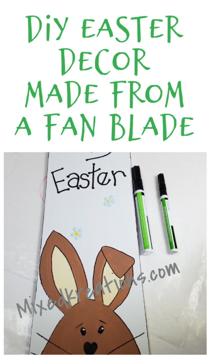 Diy Easter holiday decor upcycled from a fan blade