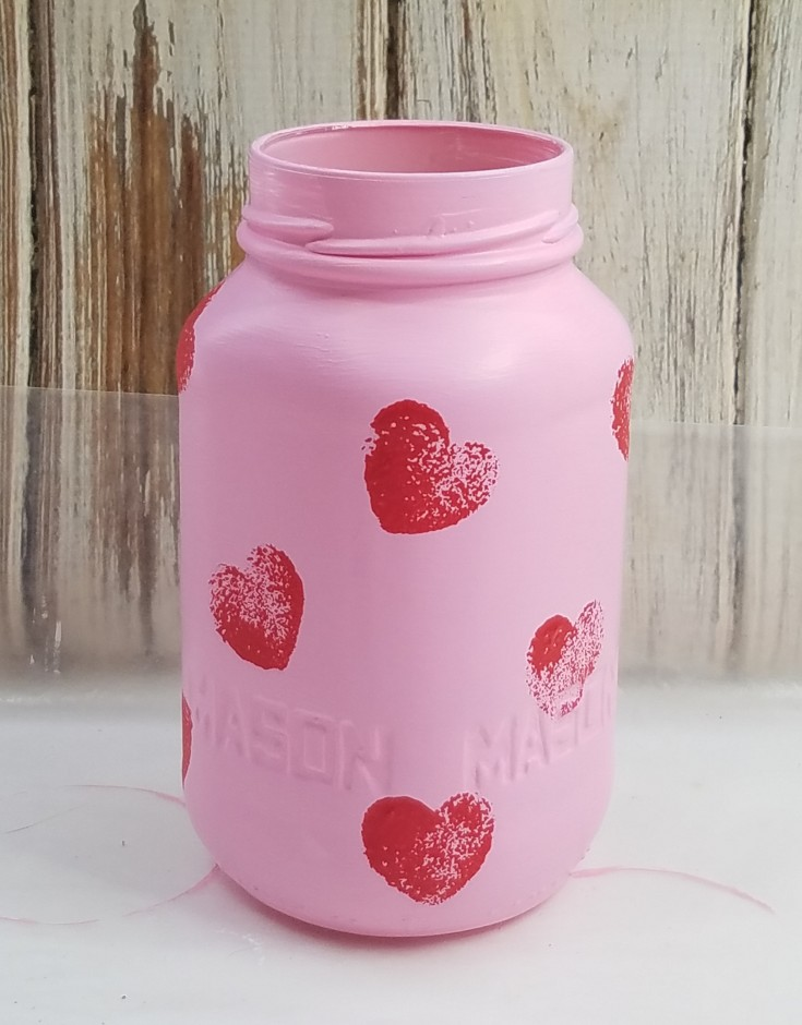How to paint Valentine day jars