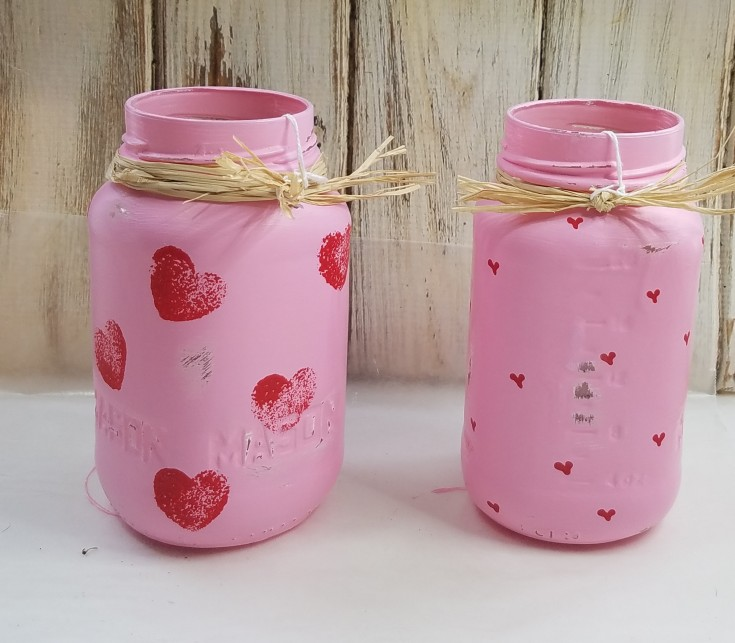 How to paint jars for valentine day