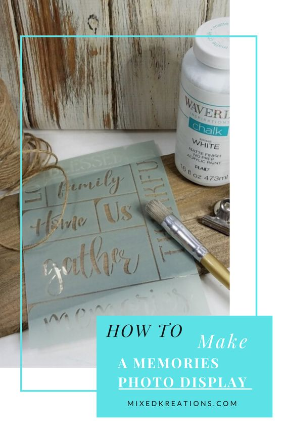 How to make rustic photo display