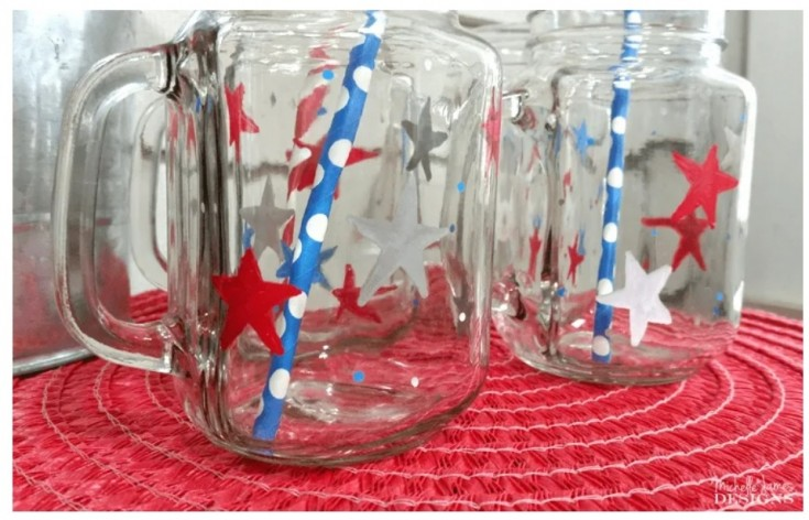 patriotic glassware for the holiday's