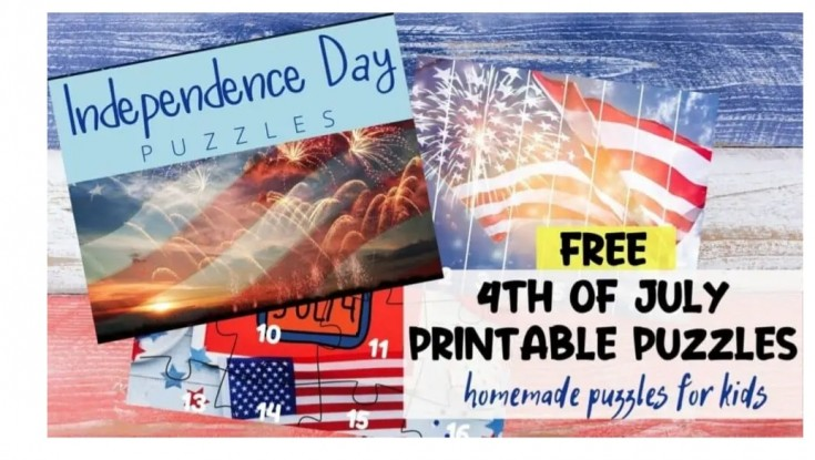 4th of July printable puzzle