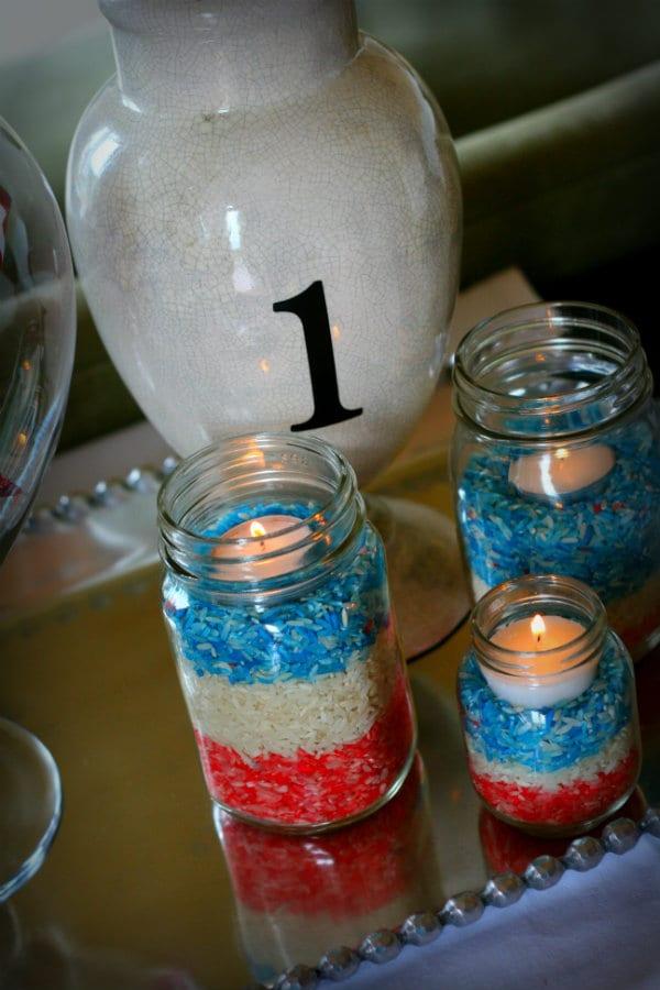 diy patriotic luminaires