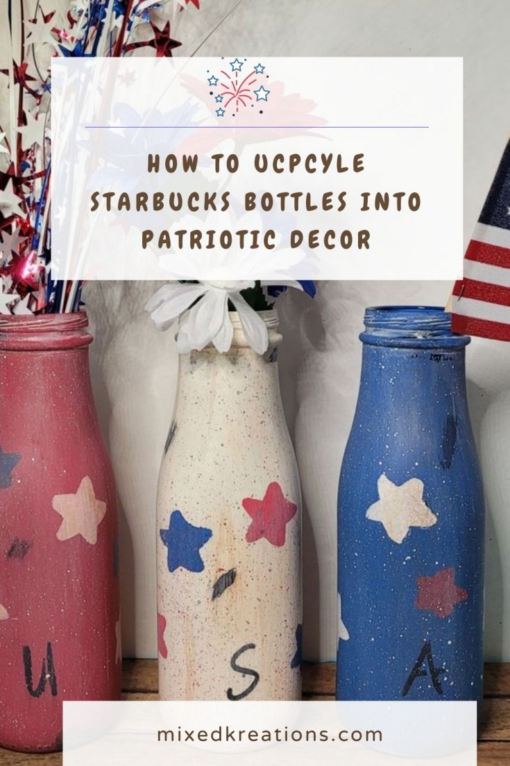 How to make patriotic decor out of bottles