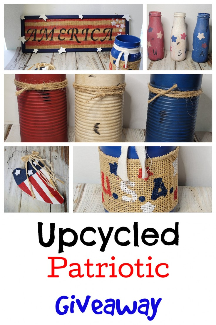 upcycled patriotic giveaway