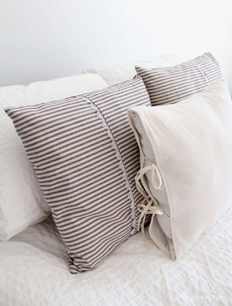 easy to sew ticking stripe pillow covers