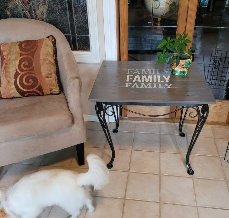 How to make a diy patio side table